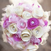 Pink and white sparkling paper rosette pomander